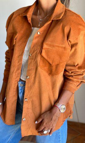 Camisa pana, marron