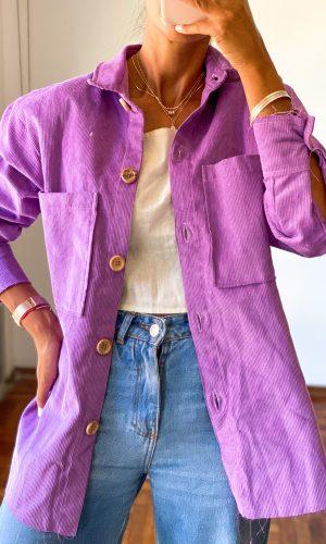 Camisa pana, violeta