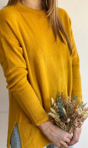 Sweater Básico Mostaza