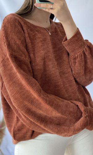 Sweater, terracota