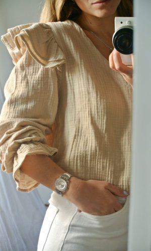 Blusa Capri, beige