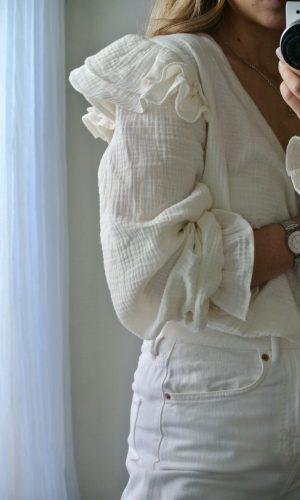 Blusa Capri, manteca