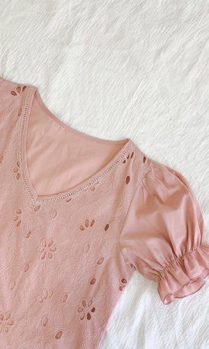 Blusa Broderie, rosa