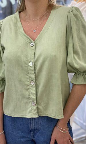 Blusa lino elastizado
