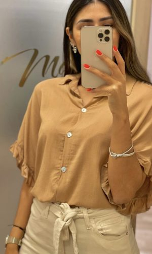 Camisa Rini camel